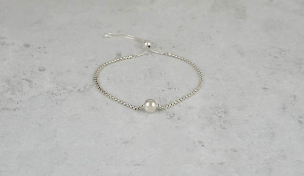 Sterling Silver Ball Charm Adjustable Bracelet Park Road Jewellery, Bespoke Handmade Sterling Silver Jewellery