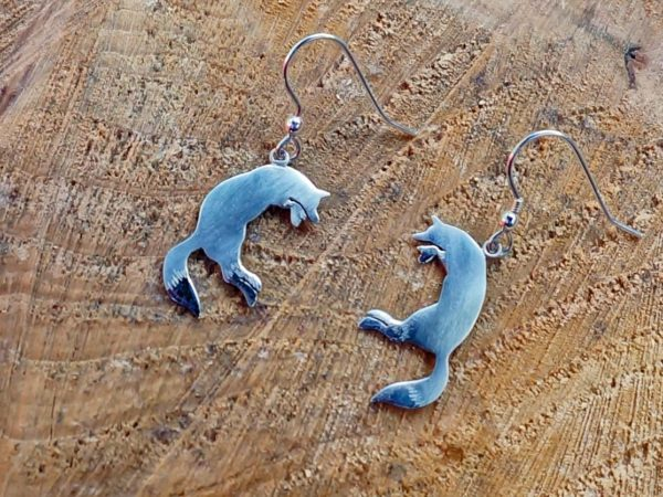 Jumping Fox Earrings