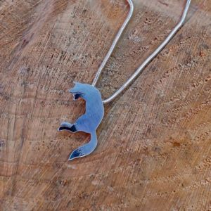 Jumping Fox Necklace Fox Necklace