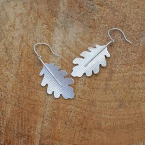 Oak Leaf Earrings, Nature Jewellery, Leaf Earrings, Drop Earrings