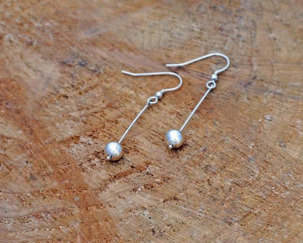pebble drop dangle earrings