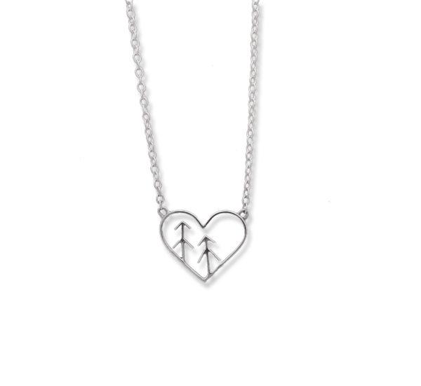 heart tree necklace