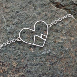 Mountain Heart Bracelet Love the Mountains bracelet