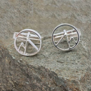 Circular Mountain Cufflinks Mountain cufflinks