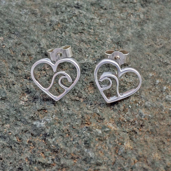 Ocean Wave Heart Earrings Love the ocean earrings, wave sea beach earrings