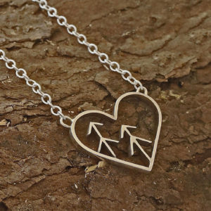 heart tree necklace Love the forest necklace, tree nature necklace