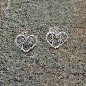 forest tree heart earrings Love the forest earrings