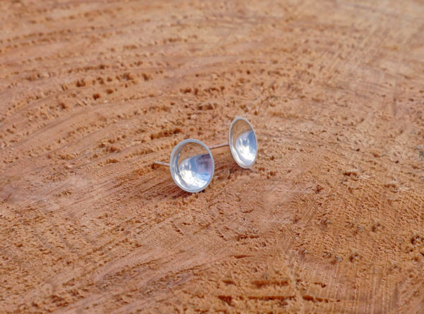 pools domed dish earrings