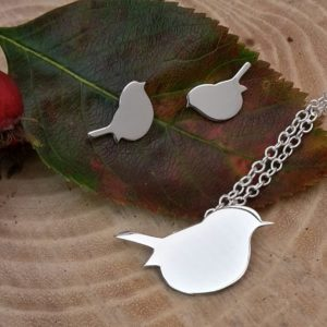 Bird Necklace Robin Set