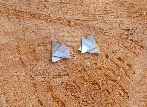 Triangle Textured Earrings