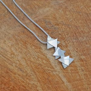 triangle textured pendant
