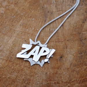 Zap Comic Necklace