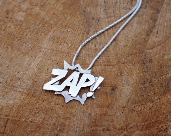 Zap Comic Necklace