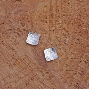 Waffle Texture Square Studs