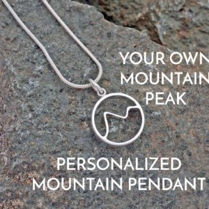 Bespoke Personalised Mountain Pendant