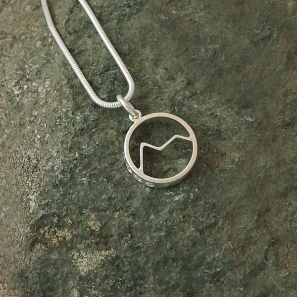 Snowdon Mount Snowdon Welsh Mountain pendant necklace