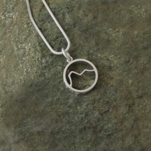 Ben Nevis Scottish Mountain pendant Necklace, Hiking Nature gift