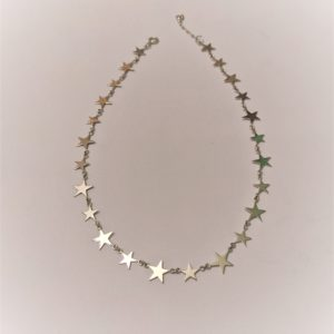 Park Road Jewellery, Bespoke Handmade Sterling Silver Graduated Star Necklace