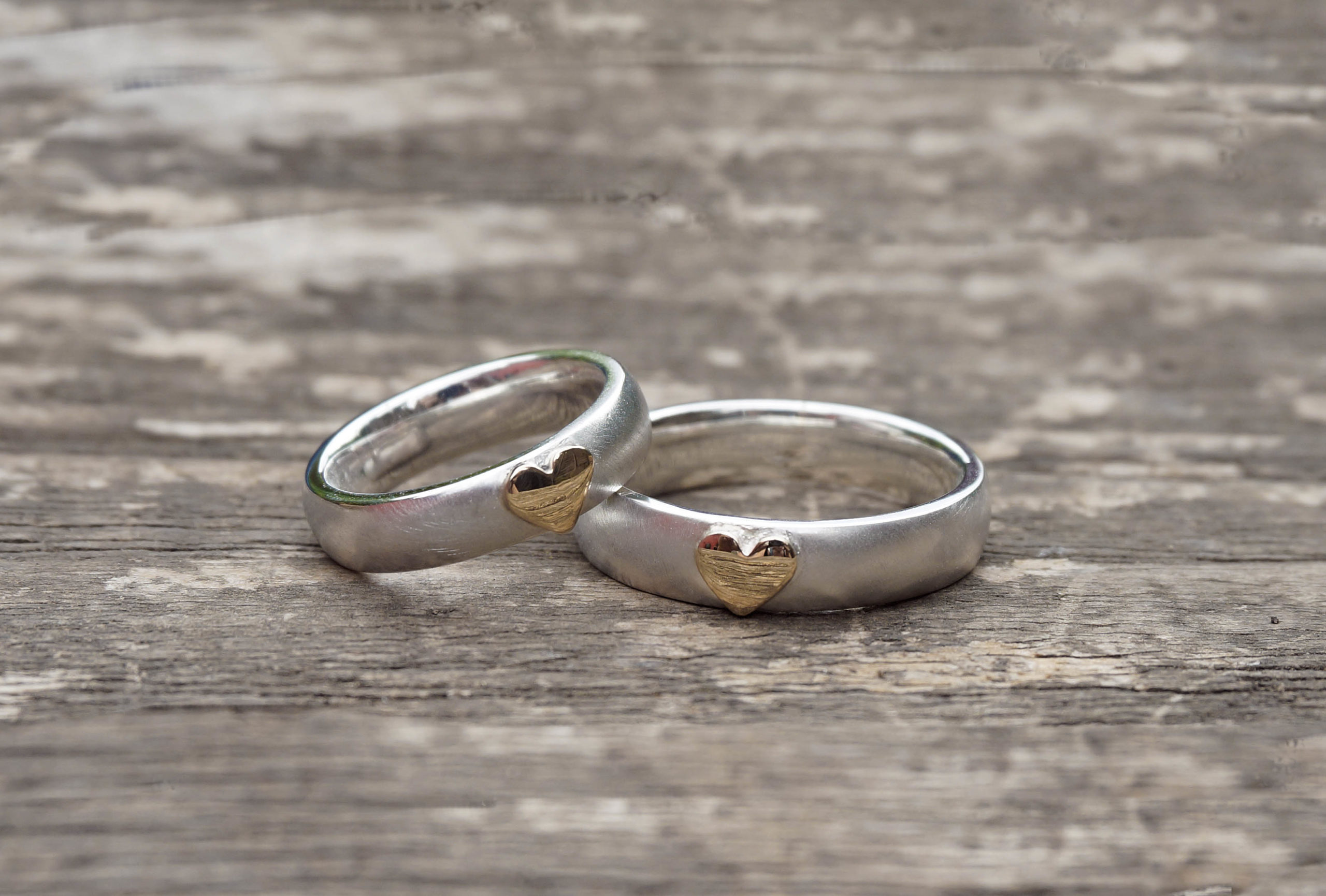 Park Road Jewellery, Bespoke Handmade Engagement Wedding Ring 18ct Yellow Gold Silver Personalized Matching Ring