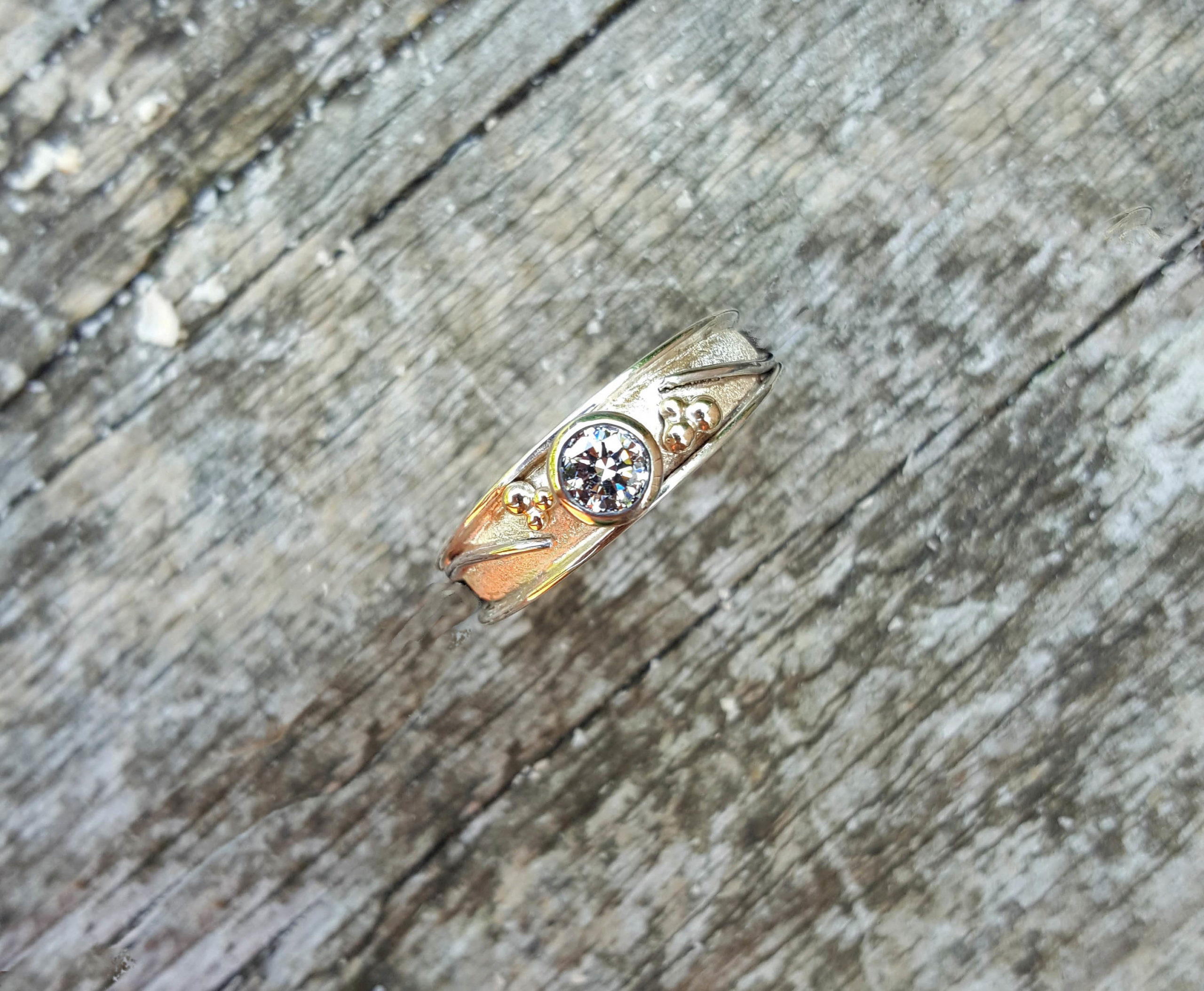 Park Road Jewellery, Bespoke Handmade Diamond Engagement Wedding Ring 18ct Yellow Gold Platinum Personalized Ring