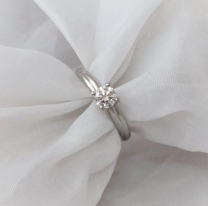 Park Road Jewellery, Bespoke Handmade Sapphire Diamond Engagement Ring Platinum and Diamond Twist Design Personalized Ring