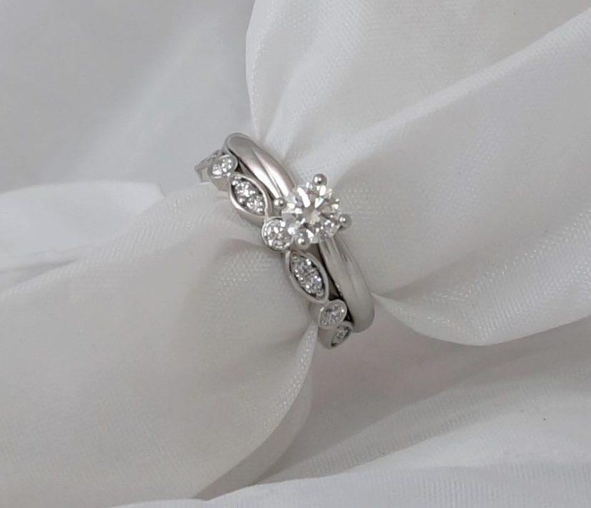 Park Road Jewellery, Bespoke Handmade Wedding Ring Shaped Personalized Platinum Diamond Ring
