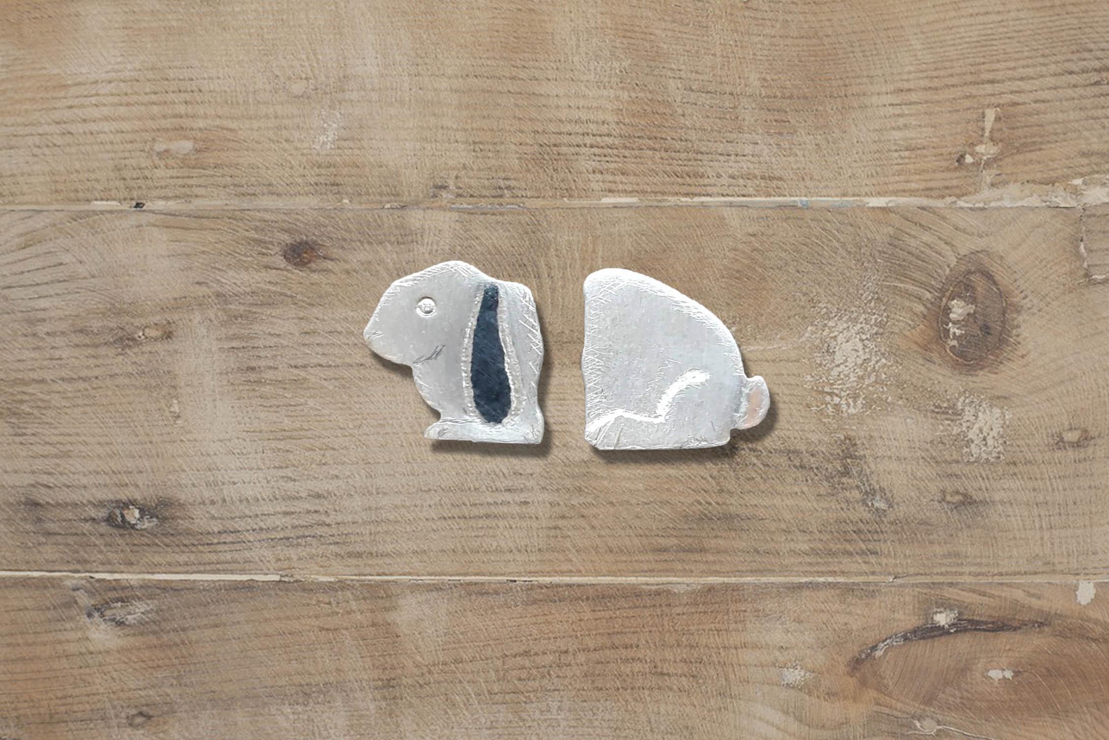 Park Road Jewellery, Bespoke Handmade Sterling Silver Bunny Lop Earred Rabbit Earrings Jewellery