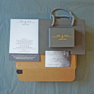 Park road jewellery, handmade bespoke jewellery packaging