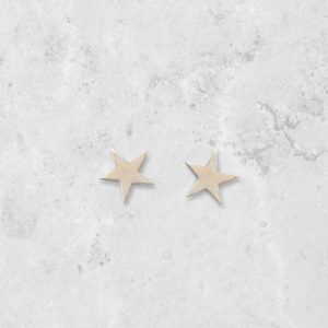 Star Stud Earrings. Handmade in England. Park Road Jewellery, Bespoke Handmade Sterling Silver Jewellery