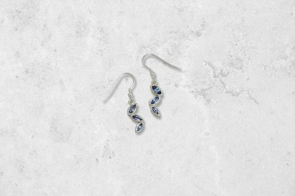 Tanzanite Cascade Earrings. Park Road Jewellery, Bespoke Handmade Sterling Silver Jewellery
