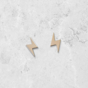 Lightning bolt stud Earrings. Handmade in England. Park Road Jewellery, Bespoke Handmade Sterling Silver Jewellery