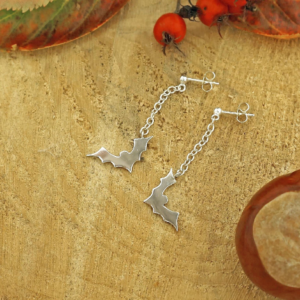 Bat Drop Halloween Earrings Park Road Jewellery