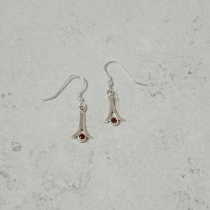 Garnet Drop Pendant necklacePark Road Jewellery, Bespoke Handmade Sterling Silver Jewellery