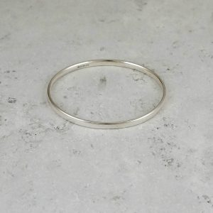 Polished Oval Bangle Park Road Jewellery, Bespoke Handmade Sterling Silver
