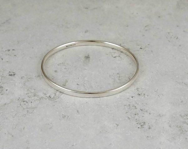 Polished Oval Bangle Park Road Jewellery, Bespoke Handmade Sterling Silver