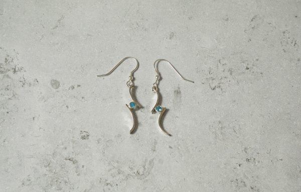 Topaz Drop Pendant necklace Park Road Jewellery, Bespoke Handmade Sterling Silver Jewellery