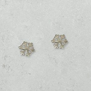 Snowflake Earrings Park Road Jewellery, Bespoke Handmade Sterling Silver