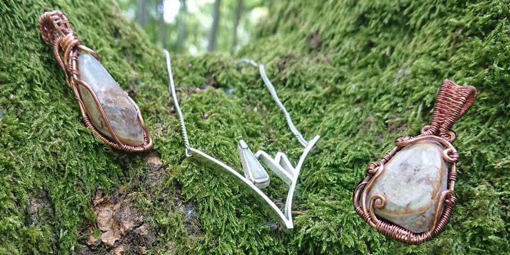 Park Road Jewellery Handmade bespoke opal pendants