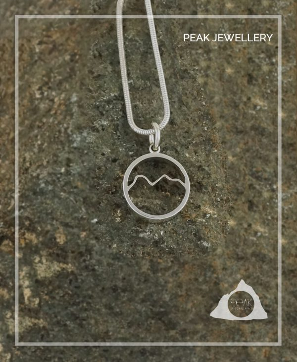 Scafell Pike Mountain pendant Necklace, Hiking Nature gift