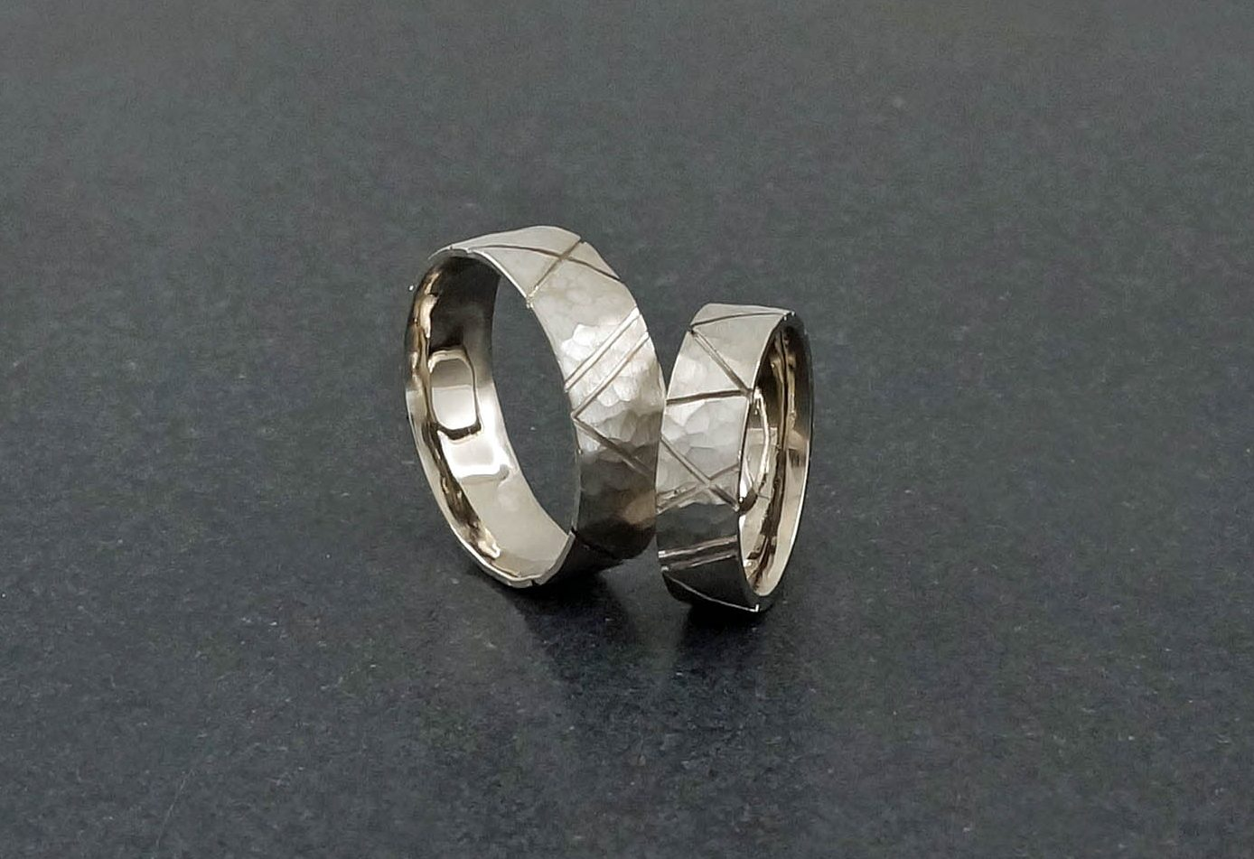 Park Road Jewellery 18ct white gold Bespoke Wedding Bands